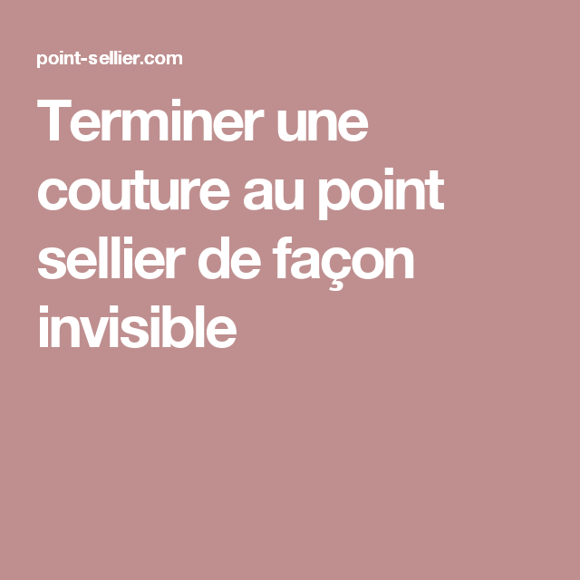 Point invisible couture