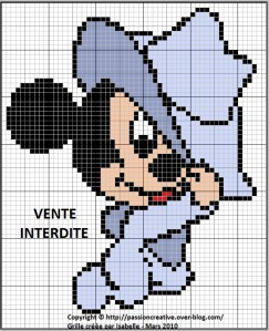 Point de croix mickey