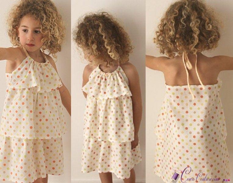 Coudre une robe facile pour petite fille
