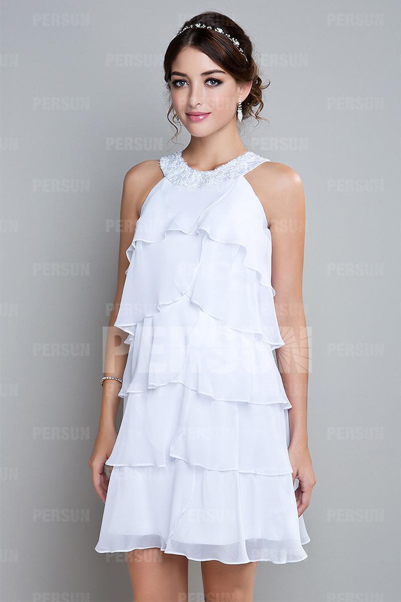 Robe blanche cocktail
