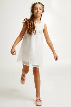 Robe blanche fille 7 ans