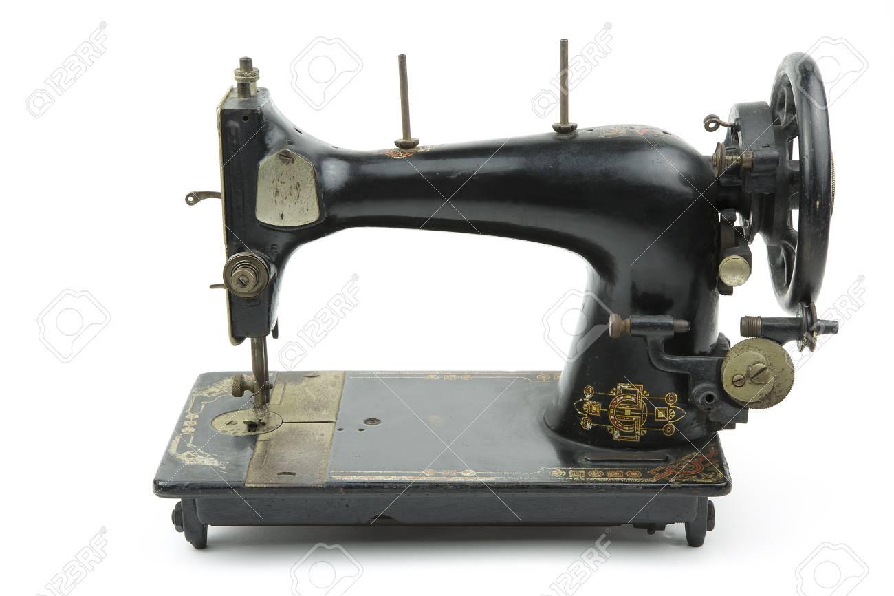 Photo vieille machine à coudre