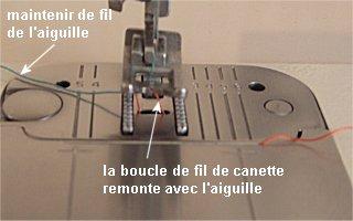 Comment faire une canette sur machine a coudre