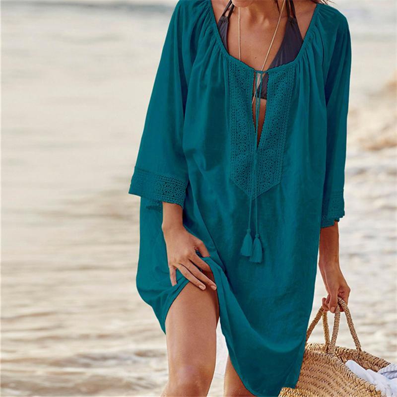 Tunique de plage coton