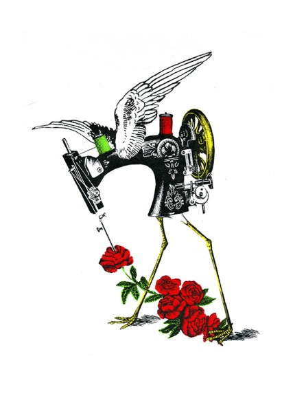 Machine a coudre the flower