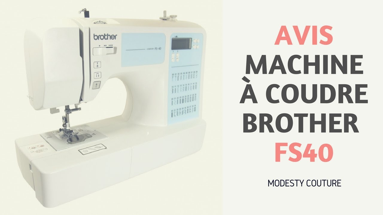 Promo machine a coudre brother fs40