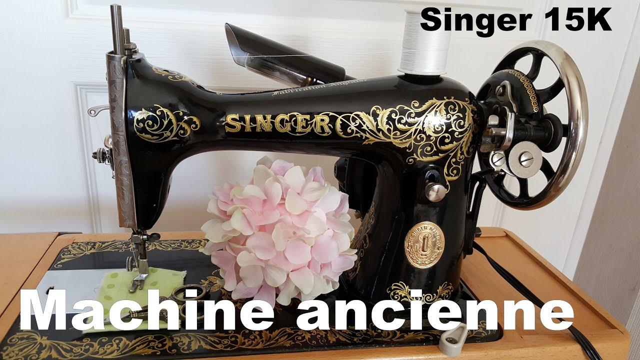 Utilisation machine a coudre singer ancienne