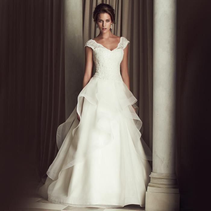 Robes de mariée col v