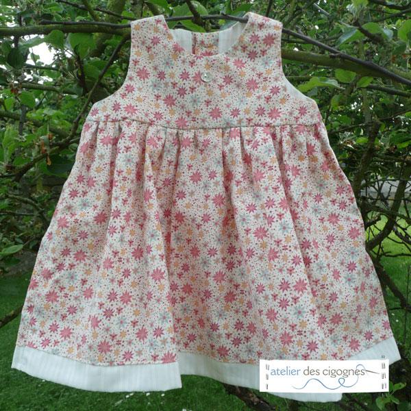 Patron robe fille 9 mois