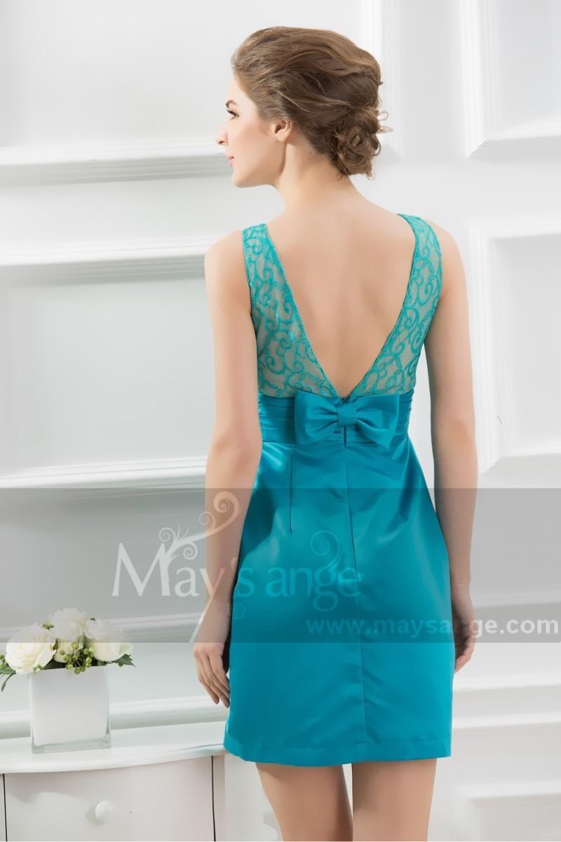 Robe dentelle turquoise