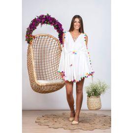 Robe de plage pompon