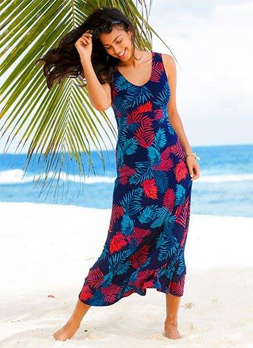 Robe de plage grande taille femme